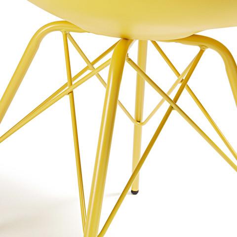 Cтул Lars желтый с металлическими ножками