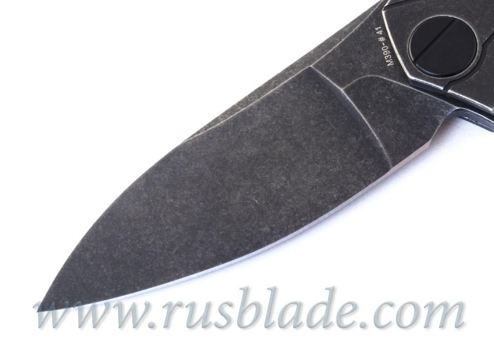 CKF Ratata BLK knife (Konygin, M390, Ti, bearings) - фотография