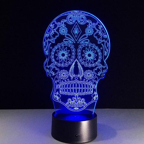 Череп головной светильник  3D визуализация светодиодный светильник