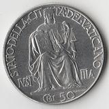 K9638, 1942, Ватикан, 50 чентезимо (сентесими) aUNC