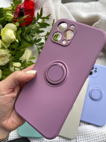 Чехол iPhone 11 Pro Silicone Full Camera Ring /blueberry/