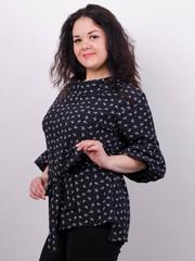 Міла. Стильна блуза великих розмірів. Бантики.
