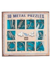 Набор Eureka Синий из 10 металлических головоломок