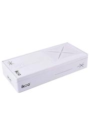 Ikoo Расческа-детанглер классическая белая Paddle X Platinum White Classic
