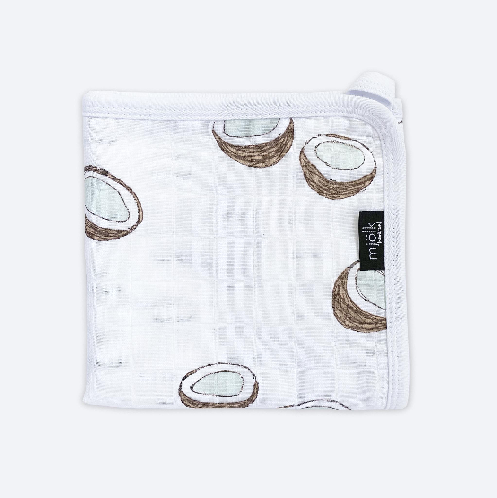Муслиновое лёгкое одеяло КОКОСЫ