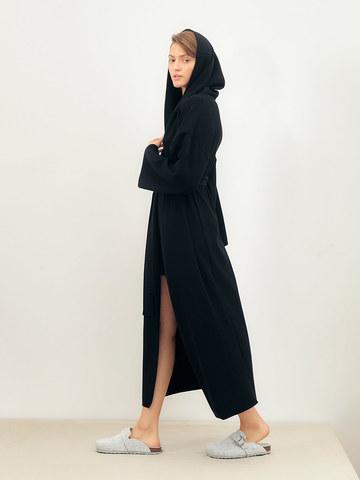 Женский кардиган черного цвета из вискозы - фото 3