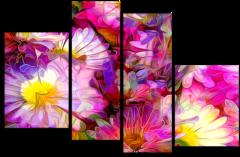 """Модульная картина """"Оттенки розового"""""""