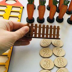 Морковки (состав числа первого десятка), Сенсорика