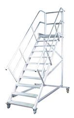 Трап с платформой передвижной, 10 ступ., шир. 600 мм 45°
