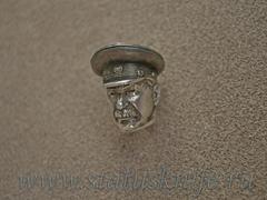 Бусина темлячная для ножа Сталин дизайн серебро