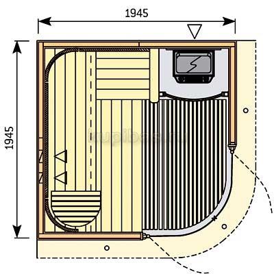 Готовая сауна Harvia Rondium S 2020 KL ольха, фото 2