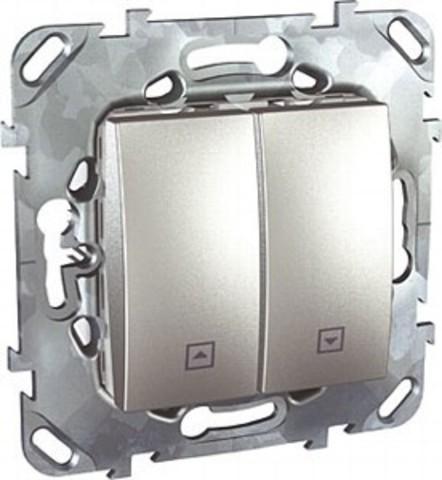 Выключатель для жалюзи без фиксации. Цвет Алюминий. Schneider electric Unica Top. MGU5.207.30ZD