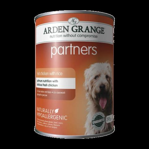 Arden Grange Partners Консервы для собак Курица и Рис