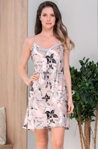 Короткая шелковая ночная сорочка Mia Amore Флавия (70% нат.шелк)