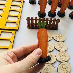 Обучающее пособие Морковки (состав числа первого десятка)