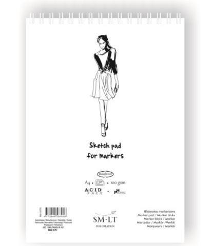 Скетчбук для маркеров SM-LT Authentic for Markers, А5, 40 листов, спираль по короткой стороне