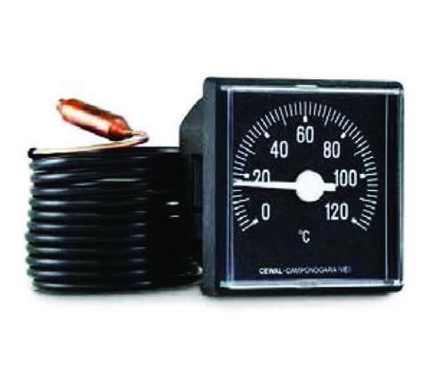Термометр капиллярный CEWAL 45х45 мм код 31000033