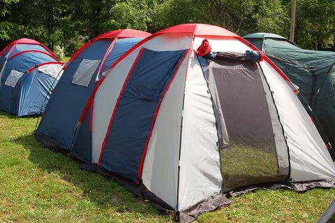 Палатка Canadian Camper GRAND CANYON 4, цвет royal, центральный вход.