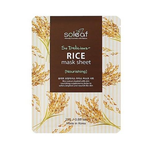 SOLEAF So Delicious Питательная маска для лица с рисом