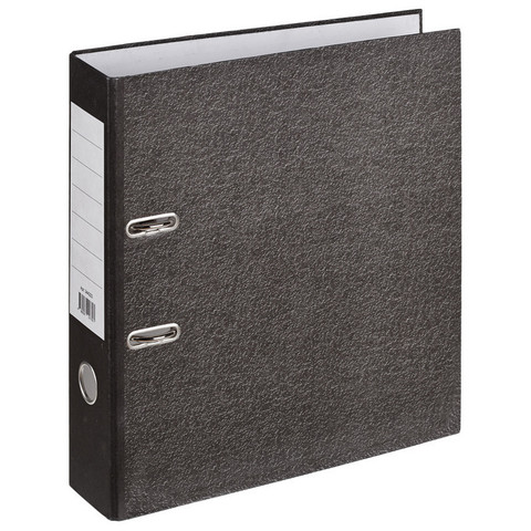 Папка-регистратор Attache Economy 75 мм мрамор черная (10 штук в упаковке)