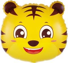 К Шар (19''/48 см) Фигура, Голова, Маленький Тигр, 1 шт.