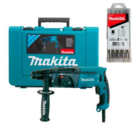 Перфоратор Makita HR2470 + набор буров D-20703
