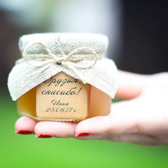 Бонбоньерка с медом на день рождения, 140 грамм