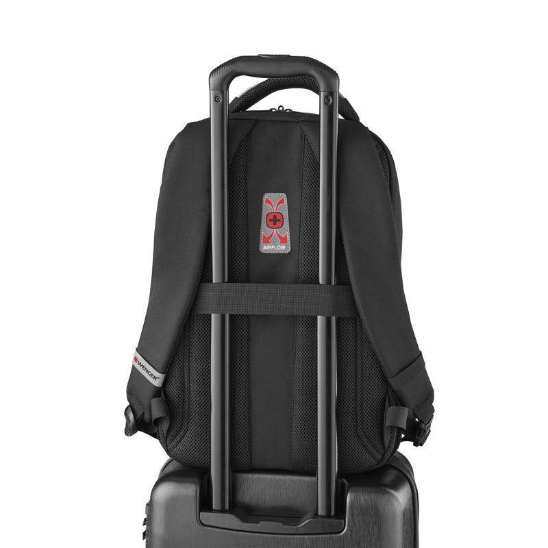 Рюкзак WENGER Tech PlayerMode с отделением для ноутбука, цвет чёрный, 46х30х23 см., 20 л. (611651) | Wenger-Victorinox.Ru