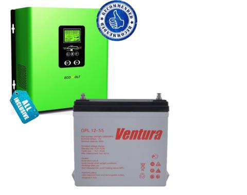 Комплект ECOVOLT TERMO 312+VENTURA GPL 12-55