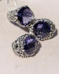 Восток (кольцо + серьги из серебра)