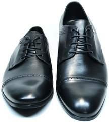 Кожаные мужские туфли Икос 2235-1 black.