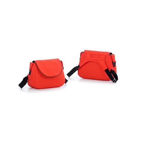 Коляска TUTIS Viva Life 2 в 1 Оранжево-красный+Кожа Серый