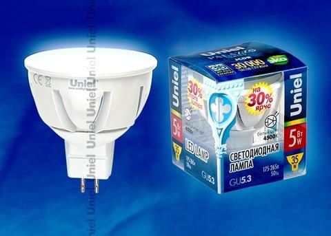 Uniel Лампа LED-JCDR-5W/NW/GU5,3/FR Palazzo (белый свет)