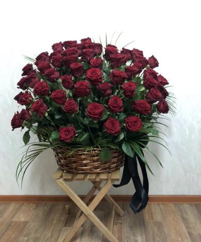 Корзина  из живых цветов КЖ-20