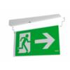 Кронштейн для крепления флагом и двухстороннее акриловое табло с креплением аварийного эвакуационного светильника с аккумулятором Formula 65 LED Li-Fe