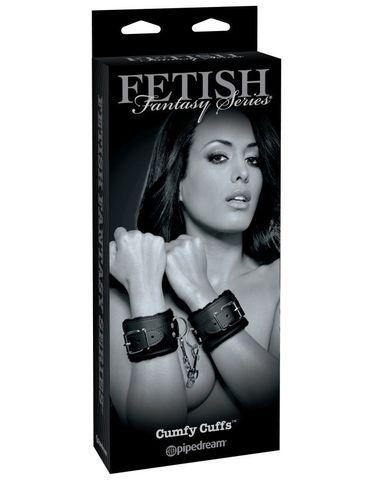 Наручи на цепочке с мехом Fetish Fantasy Limited Edition Cumfy Cuffs