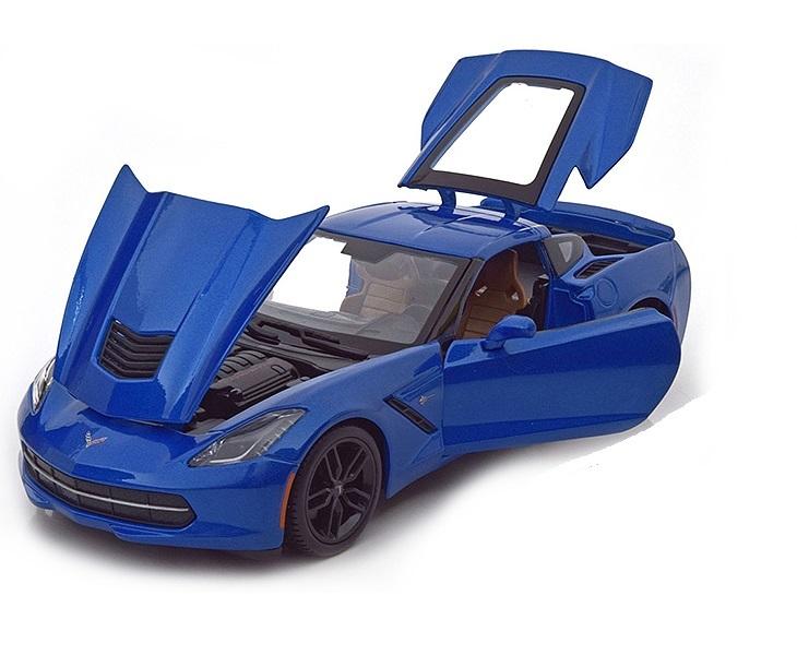 Коллекционная модель Chevrolet Corvette Stingray Z51 Coupe 2014 Blue Metallic