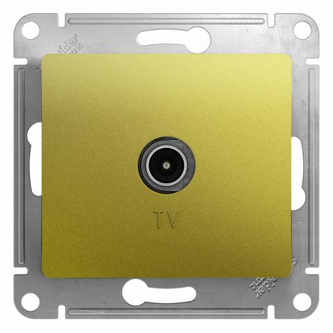 Розетка TV проходная 4DB. Цвет Фисташковый. Schneider Electric Glossa. GSL001092