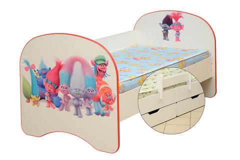 Кровать детская с фотопечатью Тролли