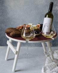Складной столик для вина, винного оттенка, фото 1