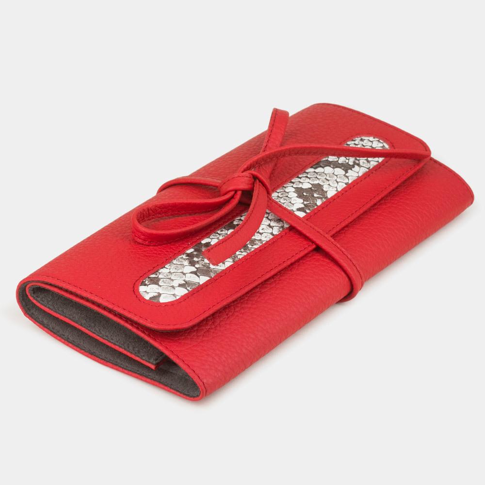 Чехол для ювелирных украшений Plier Bisness из натуральной кожи теленка, красного цвета