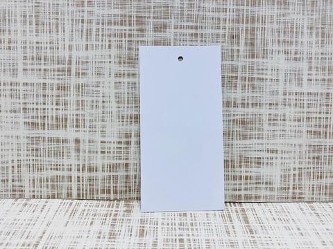 Бирка 10х5 см, мелов. мат, с отверстием 3 мм,