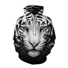 Толстовка утепленная  3D принт, Тигр (3Д Теплые Худи Tiger) 03