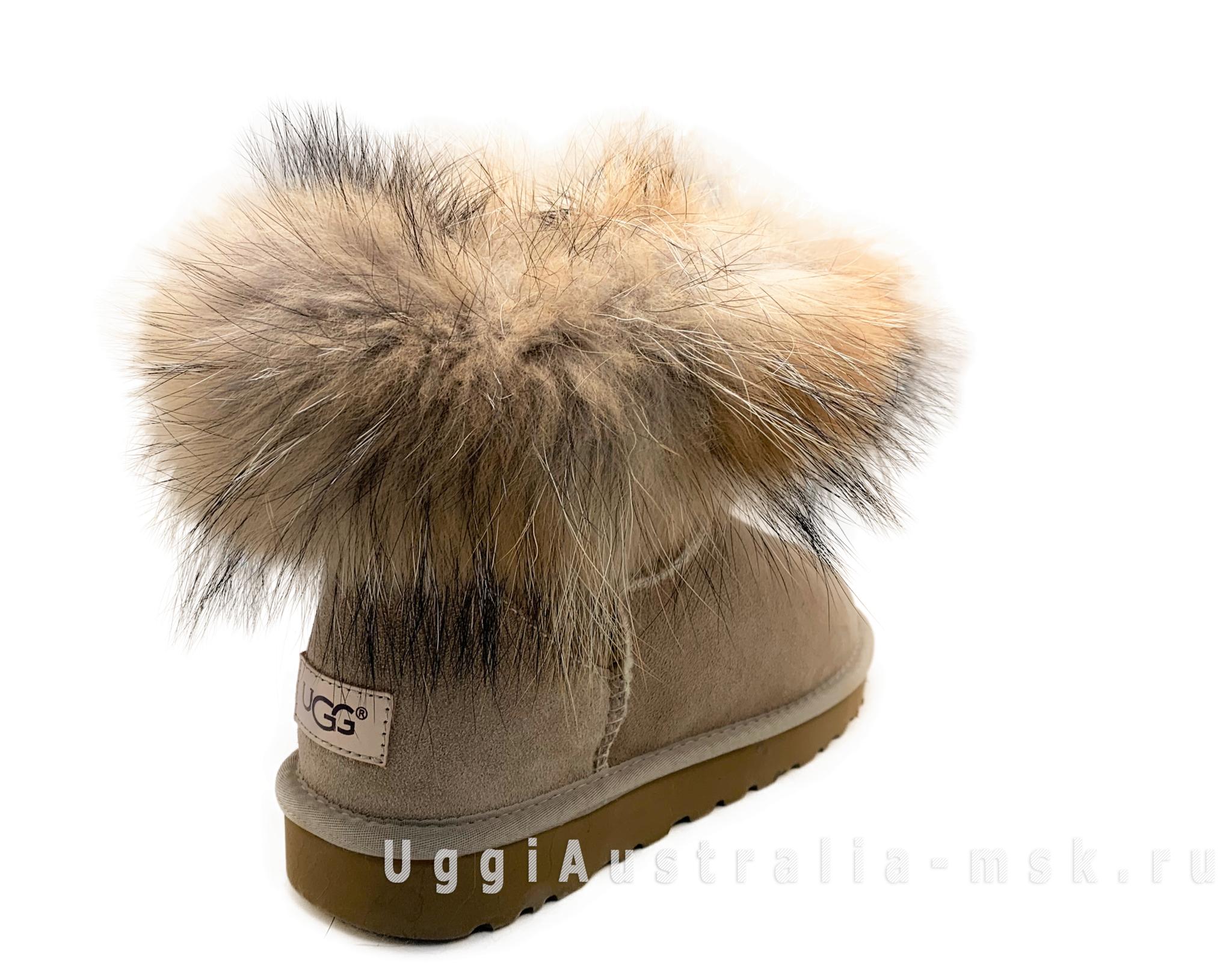 UGG Fox Fur Sand