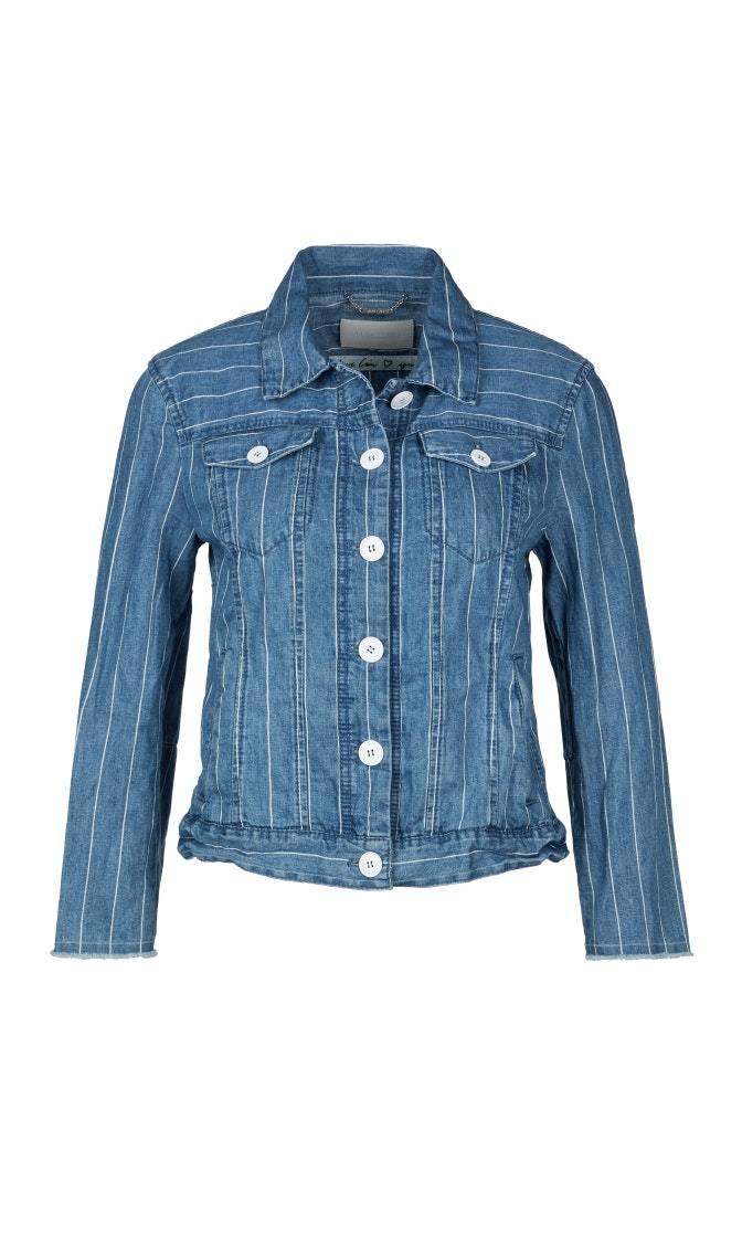 Marc Cain Куртка джинсовая со льном в полоску