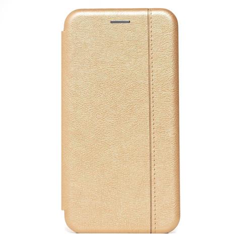 Чехол книжка для iPhone 12 Pro Max   магнит подставка золото
