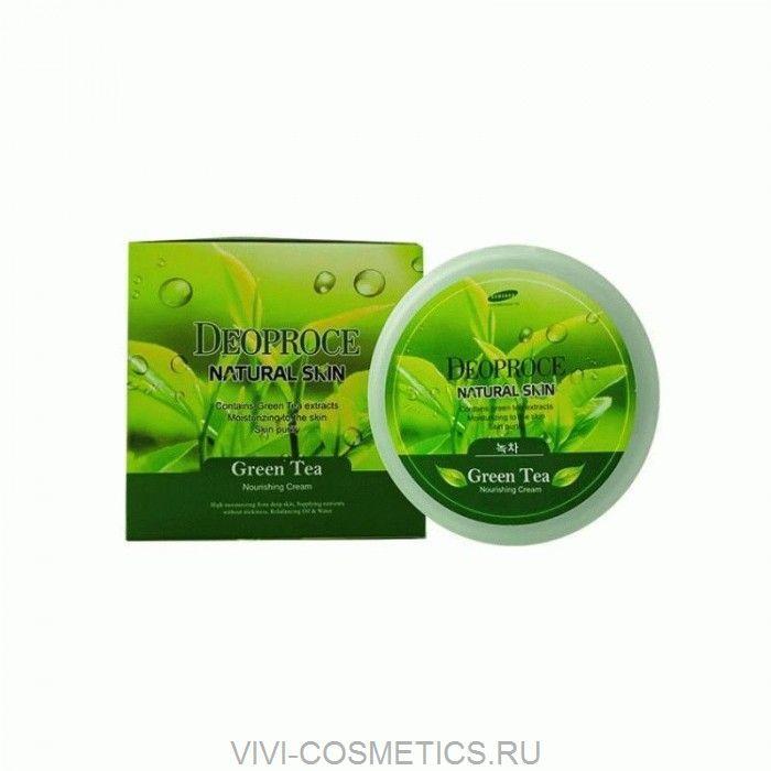 Питательный крем зеленый чай | DEOPROCE NATURAL SKIN GREENTEA NOURISHING CREAM (100g)