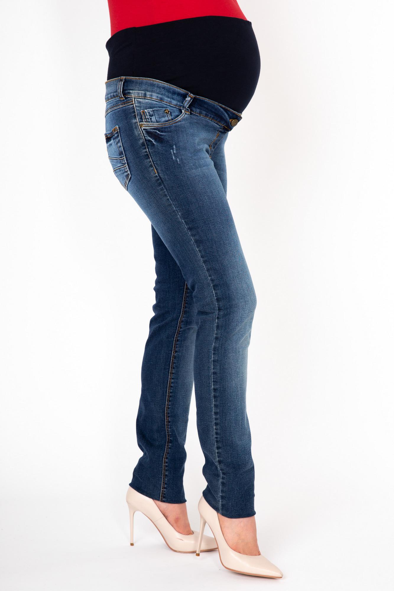 Фото джинсы для беременных MAMA`S FANTASY, зауженные, легкий эластичный деним от магазина СкороМама, синий, размеры.