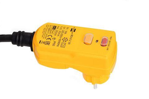 Вилка с УЗО 30 мА, 16 А, max 3500 Вт, кабелем H07RN-F 3x1,5 мм, 4,5 м