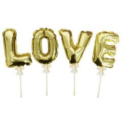 К Шар самодув, Люблю Золото, Love Gold, 16см.